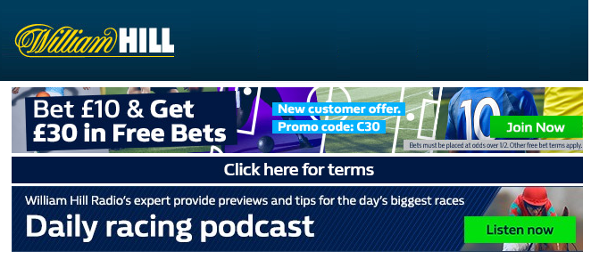 William Hill horse racing bets